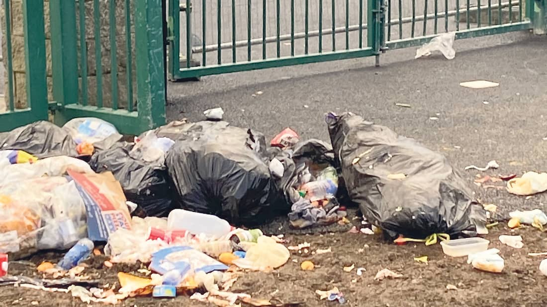 Illegal rubbish dumping during the lockdown in Tallaght